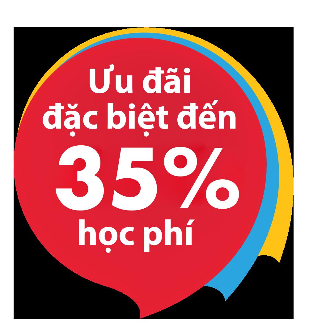 Ưu đãi đặc biệt đến 25% học phí